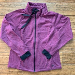 Purple and Black Zip Up Performance Jacket